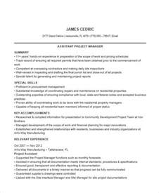 Sle Resume For Associate Project Manager Project Assistant Resume Sales Assistant 28 Images Assistant Construction Project Manager