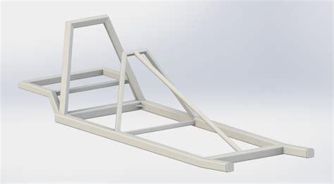 frame design in solidworks go kart frame solidworks 3d cad model grabcad