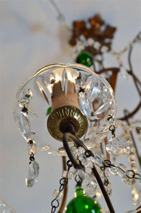 gocce di cristallo per ladari vendita ladario in cristallo e ottone con gocce in vetro di