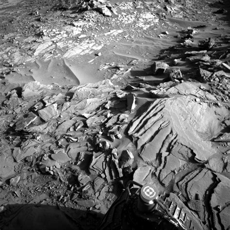 Rover Background Check Mars Rover Checks Out Layered Rocks