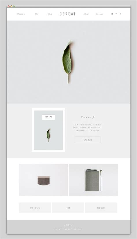 minimalist web design layout the web aesthetic cereal web and interface design