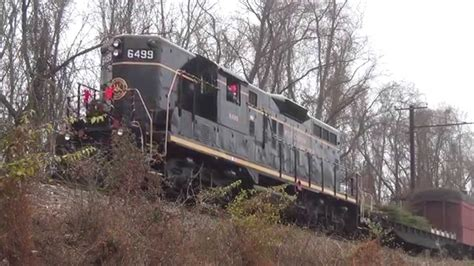 christmas tree train west chester railroad in hd youtube