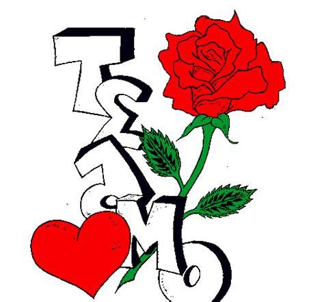 imagenes de flores que digan para ti te amo con dibujos imagui