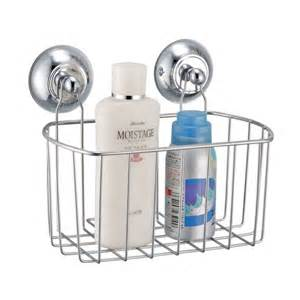 Metal Bathroom Caddy Metal Bath Caddy With Wall Suction Cups Chrome Finish