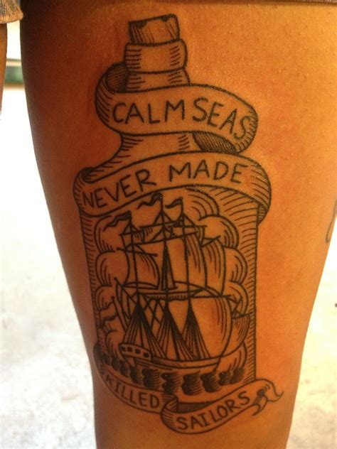 haight ashbury tattoo calm seas never made skilled sailors haight ashbury