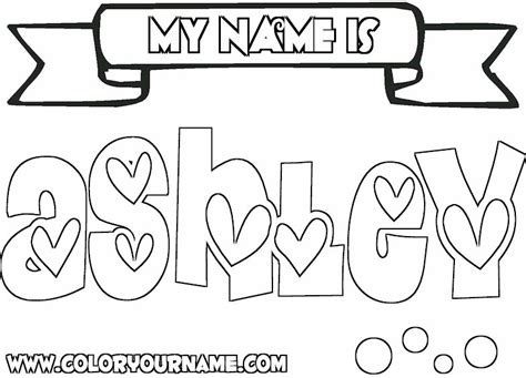 coloring pages of the name ashley ashley image name colouring pages