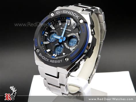 Casio G Shock Gst S110bd 1a2dr Tough Solar Stainless Steel Band 200m buy casio g shock analog digital solar stainless steel