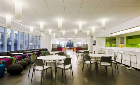 media office interiors clean and cool office cafe design interior design ideas