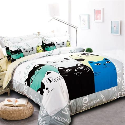 cat bed sheets cat themed bedding 460 best cat duvets and sheets images