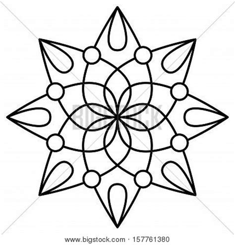 mandala coloring book for easy mandalas for beginners books simple mandala flower design vector photo bigstock