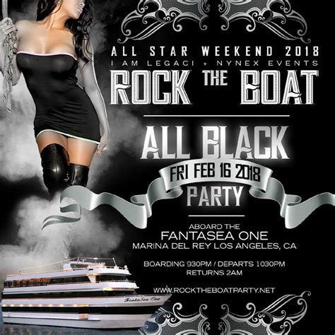 rock the boat 2020 rock the boat all star weekend 2018 all black yacht party