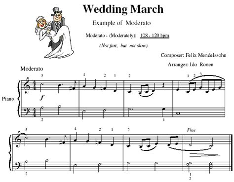 Wedding Song Piano Chords by Tempo Marks