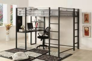 size bed sherman metal loft bed silver gun metal