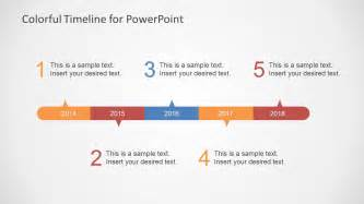 microsoft powerpoint timeline template colorful timeline template for powerpoint slidemodel