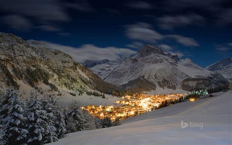 nature austria village lech  arlberg bing mountain
