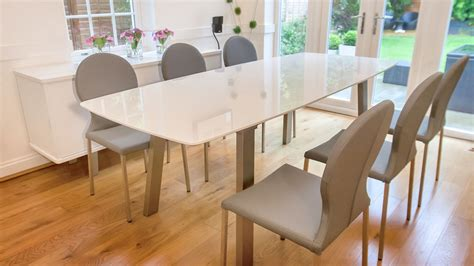 Dining Room Tables Expandable modern rounded back dining chair faux leather uk