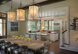 Kitchen And Dining Room Lighting by Casual By The Lake Rustic Dining Room Other Metro