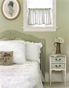 fashioned green bedroom soft green paint distressed
