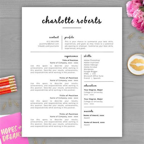pretty resume template 25 best ideas about free resume on resume