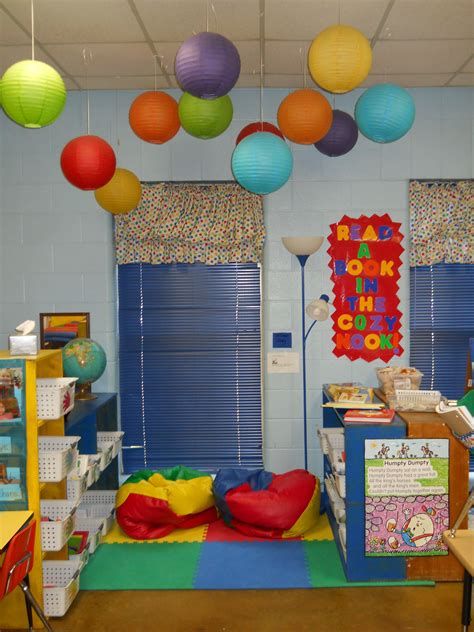 Nursery Classroom Decoration The Paper Lanterns Are So And I How They Help To Define The Space In The Room