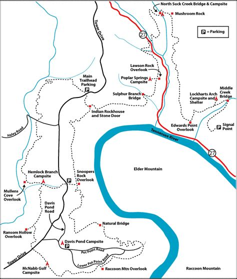 cumberland trail map grand of tennessee tennessee river gorge