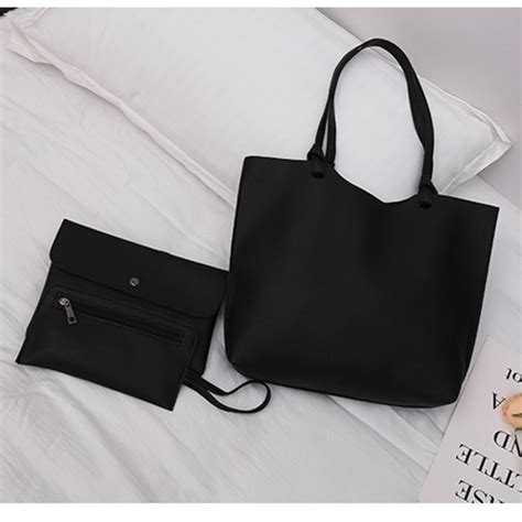 Black Set 3in1 jual bl303 black tas selempang import set 3in1