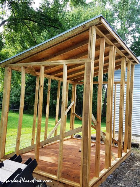 diy  lean  shed  garden plans   build