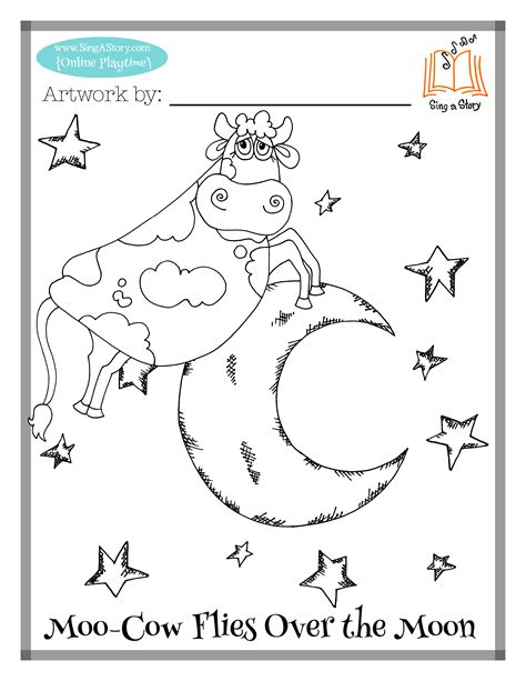 coloring page cow jumping over moon cow jumping over moon coloring coloring pages