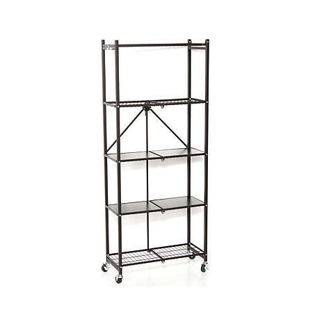 origami folding rack origami 5 tier folding pantry rack 8090504 hsn
