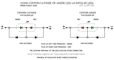 led anode cathode diagram using common cathode or anode leds as bipolar leds led and light circuit circuit diagram