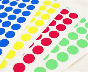 colored circle stickers sale 108 custom mix mini 3 4 inch dot bold primary