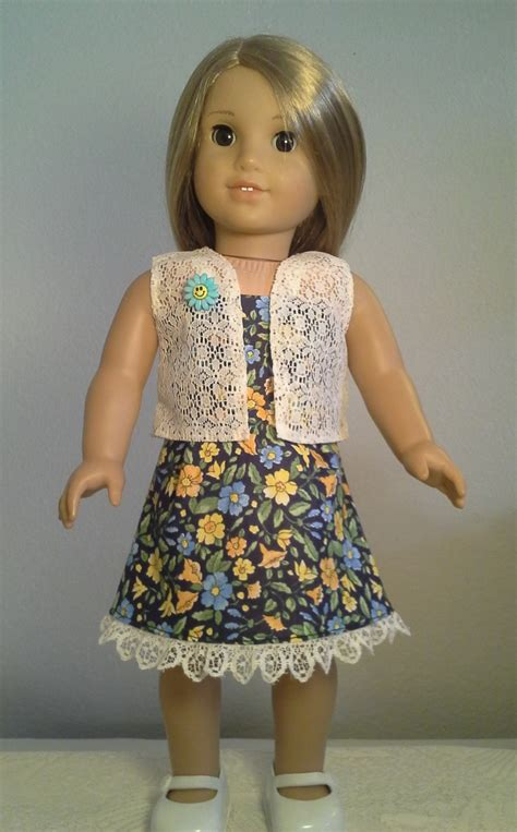 Handmade Doll Clothes - american doll clothes handmade 18 inch doll clothes blue