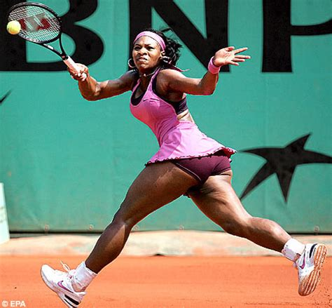 shapely serena proves    weighty opponent daily