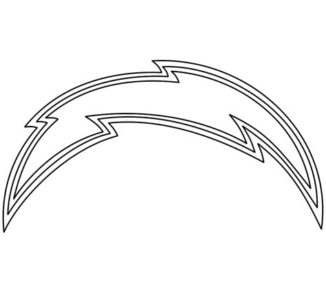 nfl chargers coloring pages san diego chargers logo coloring pages