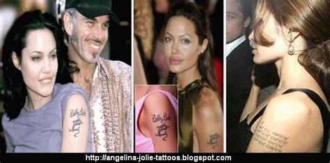 angelina jolie billy bob tattoo tattoos gallery chopper website