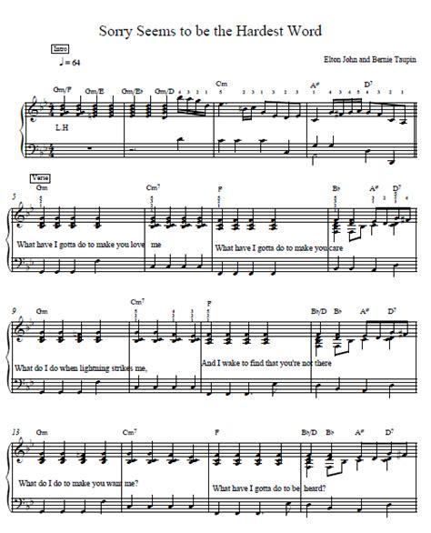 tutorial piano elton john sorry seems to be the hardest word piano tutorial elton john