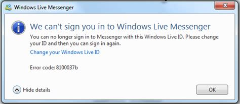 Msn 365 Login 187 Office365 Issues With Msn Messenger Russ Grover S