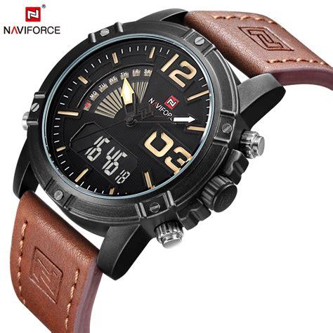Naviforce 9095 Original 1 naviforce top luxury brand fashion casual quartz analog clock sport army