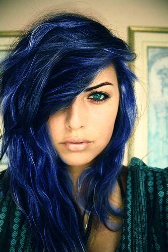 blue hair blue black hair tips and styles dark blue hair dye styles