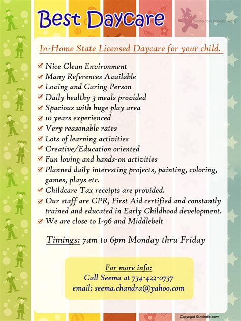 Daycare Advertising Exles by Best Daycare State Licenced Daycare For Your Child In