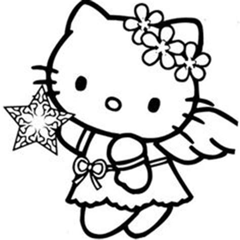 hello kitty angel coloring pages coloring pages christmas on pinterest hello kitty