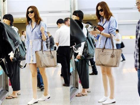 so ji sub no makeup han hyo joo s airport fashion soompi