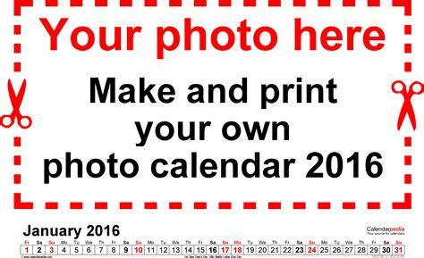 Photo Calendars Photo Calendar 2016 Free Printable Word Templates