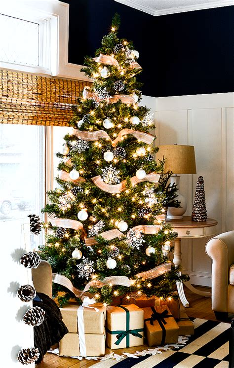 christmas tree with ribbon pictures home tour with neutral decor it all started with paint