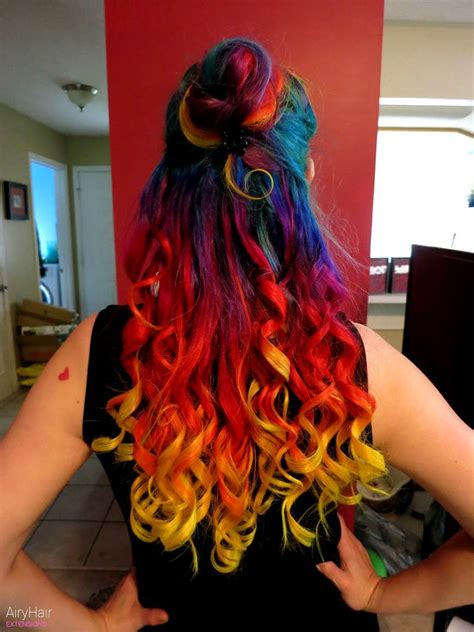 colorful hairstyles 20 rainbow hair extensions hair color ideas for 2019