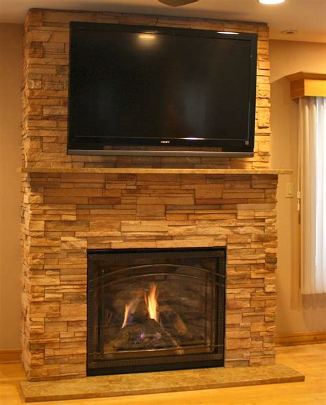 ledge stone fireplace mapo house and cafeteria
