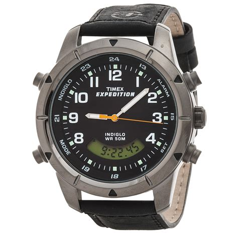 Expedition E6626m Time Leather Blrg timex expedition combo analog digital for save 38