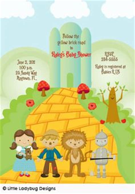 Richies Oz Themed Baby Shower by Wizard Of Oz On Baby Shower Invitations Baby