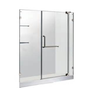 home depot glass shower doors vigo 59 75 in x 72 in frameless pivot shower door in