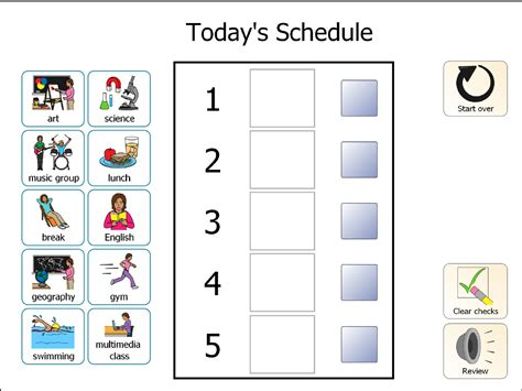 pecs cards template visual schedules for students with autism printable